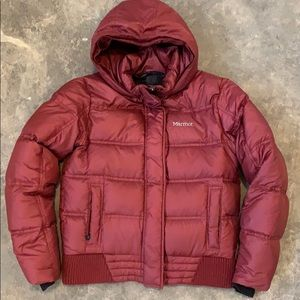 Marmot down insulated bomber coat